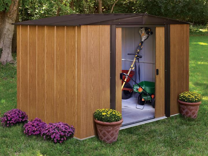 gartenhaus metall holzoptik arkansasgreenguide. Black Bedroom Furniture Sets. Home Design Ideas