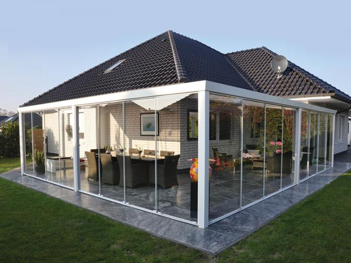 glasschiebewandsystem 700 x 210 cm 8 mm geh rtetes glas. Black Bedroom Furniture Sets. Home Design Ideas